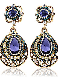 Drop Earrings Hoop Earrings Gemstone Zircon Alloy Jewelry Wedding Party Casual 2pcs