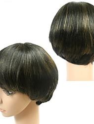 100% real peluca barato sin cola brasileña del pelo humano 1b / cortas pelucas ninguno de encaje rectas oro bob omber pelucas de cabello