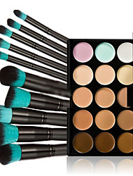 Makeup Kit -25 Pc Set Including 15 Colors Salon Contour Face Cream Makeup Concealer Palette+10PCS Makeup Brush