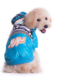 Hunde Mäntel / Overall Blau Winter Schneeflocke Wasserdicht / warm halten / Modisch