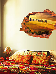 3D Wall Stickers Wall Decals Style Desert Village Waterproof Removable PVC Wall Stickers