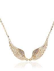 Necklace Pendant Necklaces / Chain Necklaces Jewelry Party / Daily / Casual Rhinestone / Gold Plated Transparent 1pc Gift