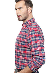 JamesEarl Herren Hemdkragen Lange Ärmel Shirt & Bluse Rot - DA192034201
