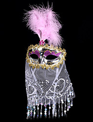 #carnival acc # 18 * 35 centímetros elétrica máscara de dança do ventre com véu bohemien