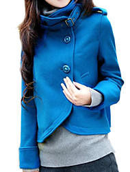 Women's  Fashion Pure Color Stand Collar Thicken Outerwear More Colors