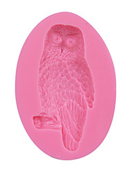 Owl Shape 3D Silicone Cake Fondant Mold,Cake Decoration Tools, Soap/Candle Moulds Sugar Cake Mold Tool SM-078
