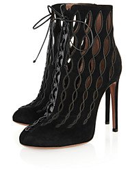 2017 new fashion Womens shoes Sexy black high heel ankle boots Rome style boot