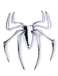 ziqiao badge emblème voiture chrome autocollant - araignée