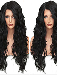 nueva !!! 100% real sin procesar peluca llena del cordón del pelo humano con brasileña sin cola virgen suelta la onda de encaje peluca de