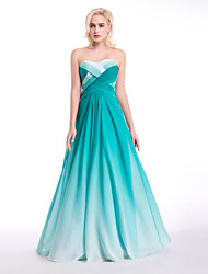Formal Evening Dress - Jade Ball Gown Sweetheart Floor-length Chiffon