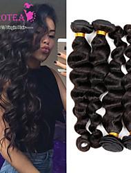 péruviens 4pcs d'onde 7a vrac non traité péruvien cheveux vierges lâche curly top qualité péruviens faisceaux de tissage de cheveux