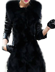 Women's Elegant Faux Fur Warm Long Sleeve Coat
