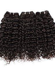 Brazilian Curly Virgin Hair Weave 3Pcs/Lot Mixed Hair Length Natural Color Virgin Hair Human Hair Weave Curly