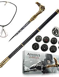 Arma Jóias Crachá Inspirado por Assassino Fantasias Anime/Vídeo Games Acessórios para Cosplay Colar Espada Crachá Broche PVC Couro PU