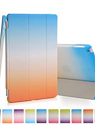 boa qualidade pu couro do arco-íris do inclinação estojo para ipad mini-4