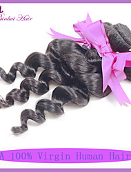 7A Peruvian Virgin Hair Loose Wave Human Hair Weaves 1pcs/lot Peruvian Loose Wave Hair Extensions