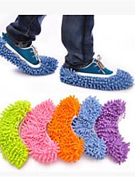 chenille zapatillas de remanentes perezosos establecer piso limpio zapatilla lavable (precio único)