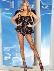 neu! schwarz&white sexy Engel Kostüme für Erwachsene elf cospaly für Frauen Party-Kleid (Overall + wing) für Karneval