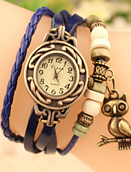 Ms. Retro Fashion Casual Student Multicolor Owl Dark Buckle Bracelet Watch Cool Watches Unique Watches