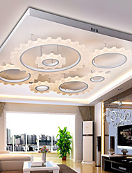 1W Flush Mount ,  Modern/Contemporary Silver Feature for LED Metal Living Room / Bedroom