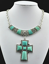 Vintage Look Antique Silver Plated Alloy Cz Payer Turquoise Stone Necklace Pendant(1PC)