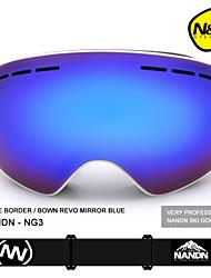 nandn mujeres grandes hombres esféricas de snowboard deportes gafas de esquí de lentes de doble capa anti-vaho gafas de esquí profesional