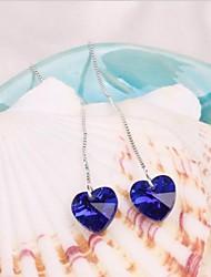 Boucle Forme de Coeur Boucles d'oreille goutte Bijoux 1set Mariage / Soirée / Quotidien / Décontracté Cristal / Alliage Femme
