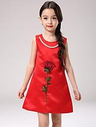 Vestido Chica de - Verano - Poliéster - Rojo