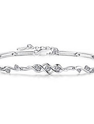 S925 Silver Crystal Bracelet,Fine Jewelry Christmas Gifts