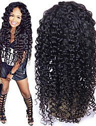 Deep Curly Full Lace Human Hair Wigs Brazilian Virgin Hair Full Lace Wig Bleached Knot Deep Curly Full Lace Wigs