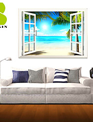 3D Wall Stickers Wall Decals, Nature Landscape Decor Vinyl Wall Stickers