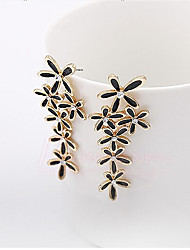 New Arrival Fashional Rhinestone Drip Flower Earrings