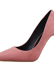 Women's Shoes Velvet Stiletto Heel Heels Heels Wedding / Dress Black / Pink / Purple / Red / Gray / Burgundy