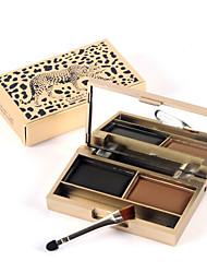 1pcs un chat léopard véritable puce brillance couleur stéréo sourcil imperméable facile à maquillage de couleur