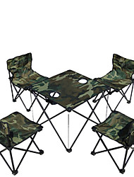 AT6713  Camouflage Outdoor Folding Tables And Chairs For 5 Times