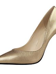 Women's Shoes Leatherette Stiletto Heel Heels Heels Wedding / Dress Black / Pink / Red / Silver / Gold / Burgundy