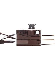 Facas / Multitools Trilha / Campismo / Exterior Multifunção / Conveniência aço inoxidável Preto / Castanho