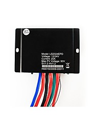 20A Solar Controller 12V 24V Auto Waterproof  IP67 PMW With Light Sensor and Timer