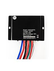 20a 12v controlador solar 24v auto IP67 à prova d'água PMW com sensor de luz e temporizador