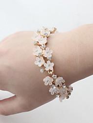 Fashion Jewelry High Quality Fresh Rhinestone Flower Bracelet