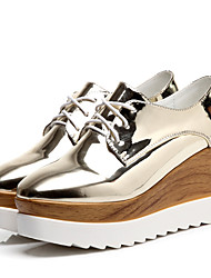 Women's Shoes Patent Leather Platform Creepers Fashion Sneakers Office & Career / Dress / Casual Pink / Gold