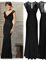 Women's Solid Color Black Dresses , Sexy / Bodycon V-Neck Sleeveless