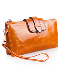 Fashion Women 's Genuine Leather Large capacity Clutches Wallet Zipper Handbags Chain Crossbody Bag