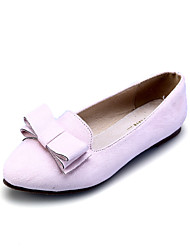 Girls' Shoes Dress / Casual Comfort / Pointed Toe / Closed Toe Faux Suede Flats Black / Blue / Pink / Burgundy