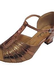 Personalizado da pele de serpente Superior Profissional de Dança sapata das mulheres para a salsa e latino