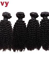 """vivy 8 """"-30"""" 4 faisceaux Kinky bouclés # 1B brésiliens extensions de cheveux de remy hair armure brésilienne vierge de cheveux humains"""