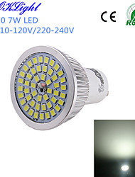 YouOKLight® 1PCS GU10 7W 600lm 48*SMD2835 Cold White High quality LED Spotlight (AC110-120V/220-240V)