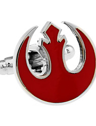 New Republic Star Wars emblem flame red hollow French shirt cufflinks cuff nail