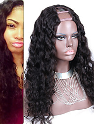 Loose Wave U Part Wig Peruvian Virgin Human Hair Unprocessed Loose Wave Full Density 2X4inch U Part With Middle Part