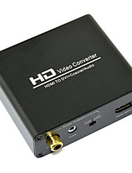 HD Video Converter HDMI to DVI + Coaxial Audio Converter 2.1CH 5.1CH Channel 720P 1080P Audio Converter Hot Selling